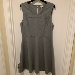 Merona for Target Grey Tank Skater Dress